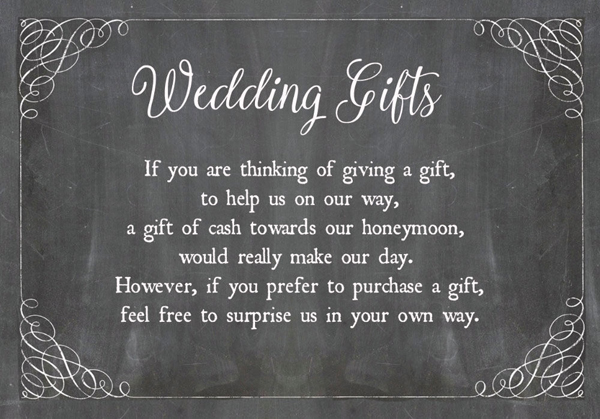 Choosing A Wedding Gift List : Dont fancy a poem? Here are some helpful paragraphs to inspire you: