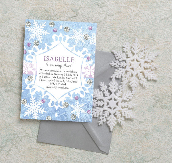 Frozen Ice Birthday Party Invitations by Hip Hip Hooray