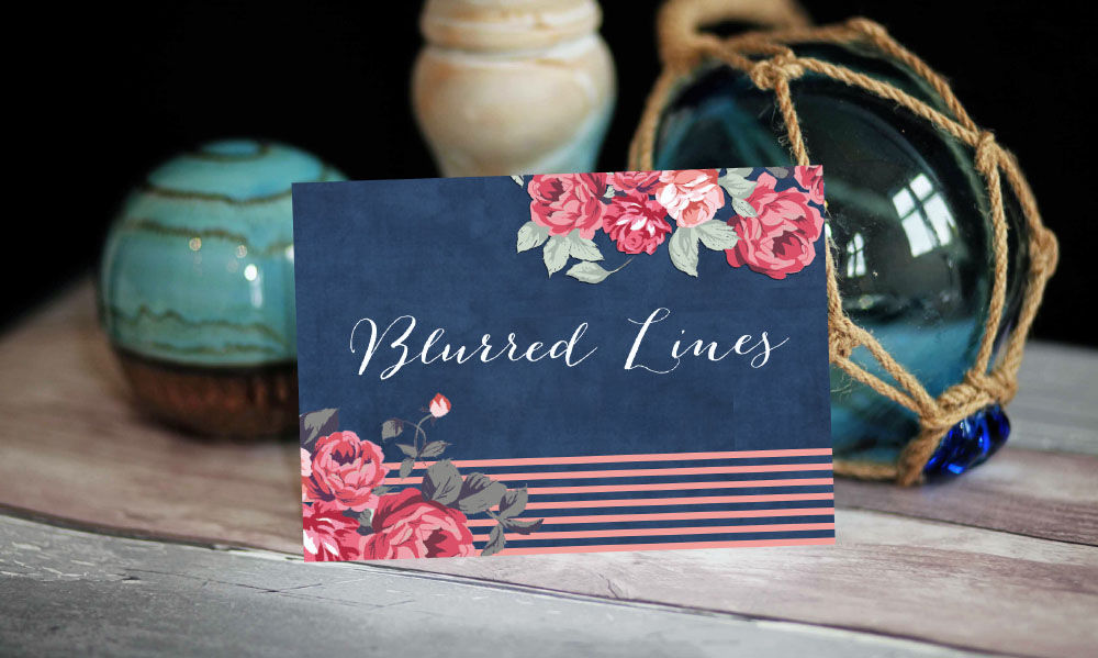 5. Rustic Floral Wedding Table Name Card by Hip Hip Hooray