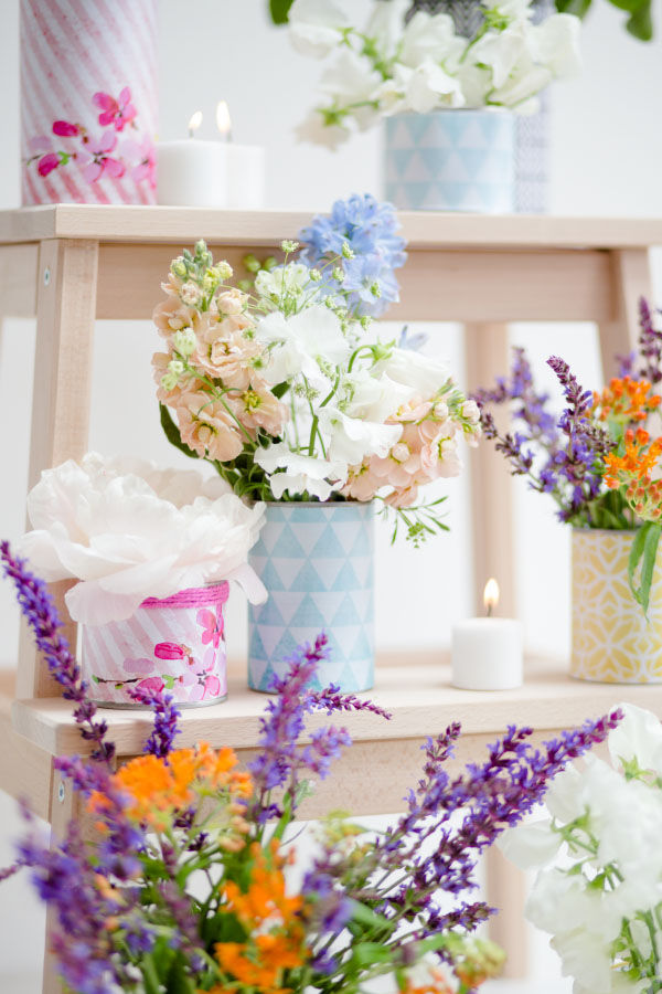 Printable DIY Tins Cans Wedding Centrepieces Vintage Geometric Pastel Hip Hip Hooray_Claire Graham Photography-2
