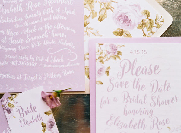lavender lilac bridal shower wedding invitations save the dates and stationery photo shoot1
