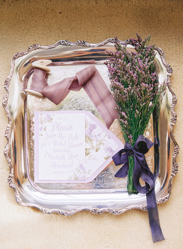 lavender lilac bridal shower wedding invitations save the dates and stationery photo shoot1b