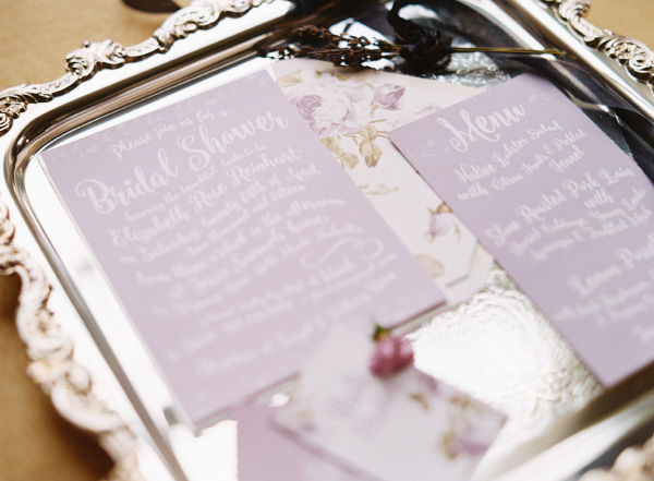 lavender lilac bridal shower wedding invitations save the dates and stationery photo shoot1c