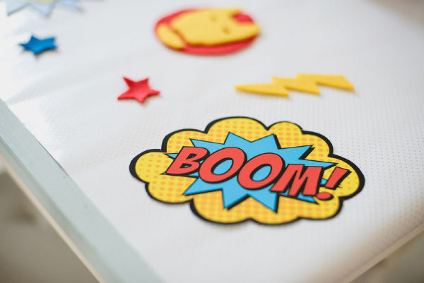 Superhero Themed Party Printables and Photo Booth Props by Hip Hip Hooray 3