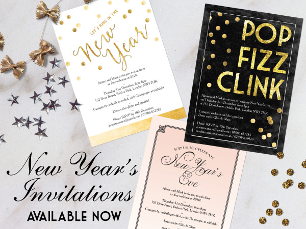 printable printed new years eve party invitations