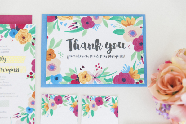 Maxeen Kim Photography - Hip Hip Hooray-Floral Flowers Bright Hand Painted Fun Wedding Invitations Stationery 10