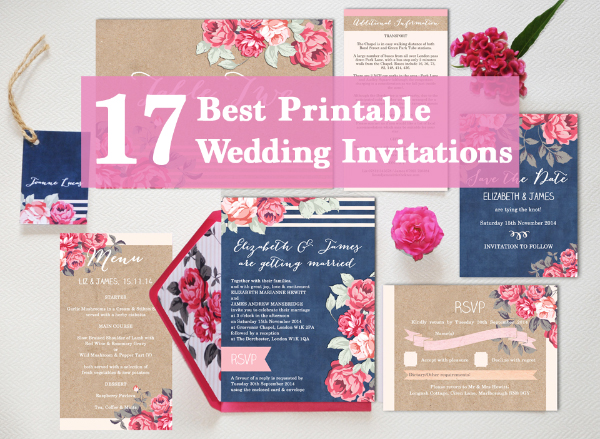 17 Best Printable Print Your Own DIY Wedding Invitations Invites Templates  By Hip Hip Hooray.