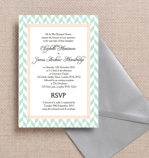 Aqua Mint Peach C Pink Pastel Geometric Bohemian Wedding Invitations Invites Printable Printed By Hip