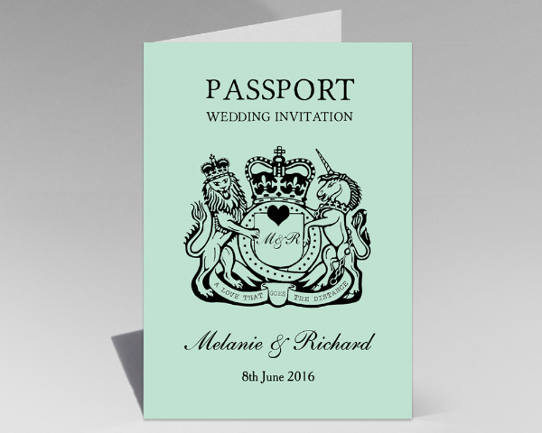 Mexican Mexico Passport Destination Wedding Invitations Invites Printed Printable 2