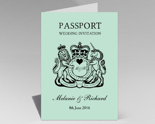 Mexican Mexico Passport Destination Wedding Invitations Invites Printed Printable 2
