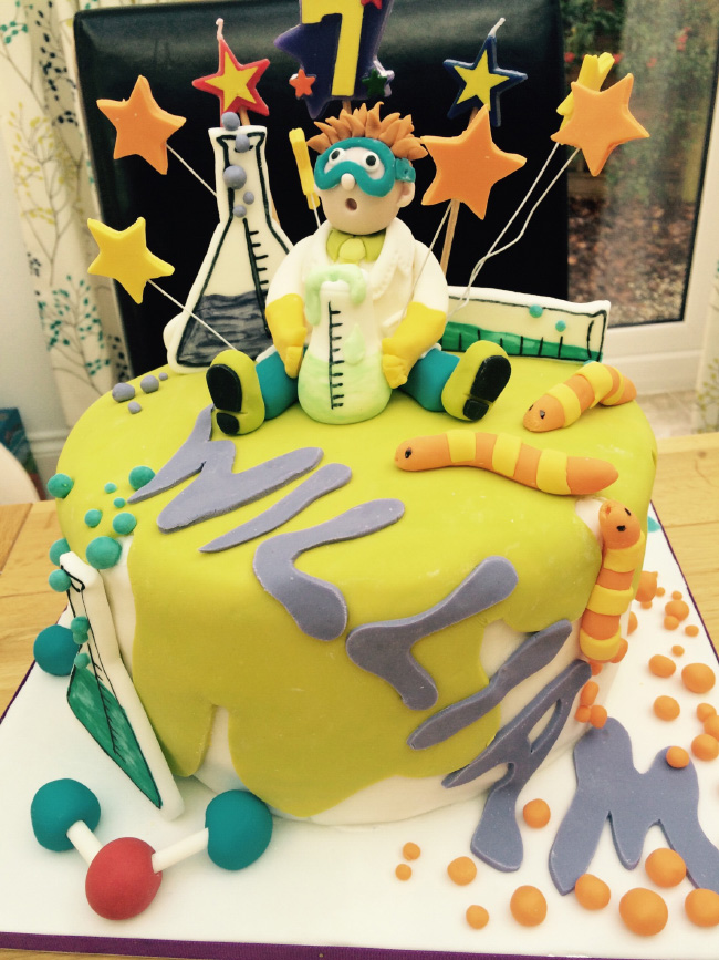 Science Mad Scientists Laboratory Kids Childrens Birthday Party Cake