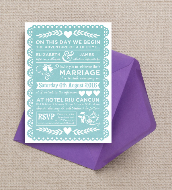 mexican wedding invitations top 10 mexican themed destination wedding invitations 5862
