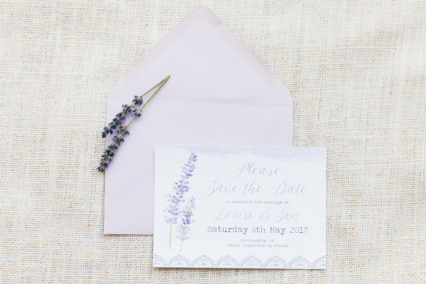 Lavender Lilac Rustic Natural Floral Wedding Stationery Invitations Invites Printed Printable Hip Hip Hooray 1