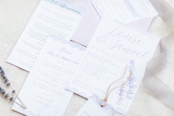 Lavender Lilac Rustic Natural Floral Wedding Stationery Invitations Invites Printed Printable Hip Hip Hooray 2