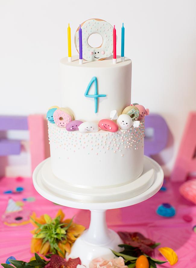 Cute kawaii cupcake donut strawberry cartoon shopkins kids birthday party Invitations stationery 1 (1)