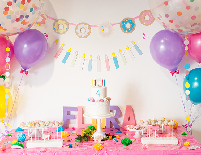 Brightly Coloured Kids Birthday Party Invitations & Ideas