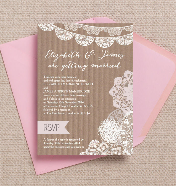 Rustic-vintage-lace-Kraft-bunting-doily-doilies-wedding-invitations-invites-printable-printed-by-Hip-hip-hooray-stationery