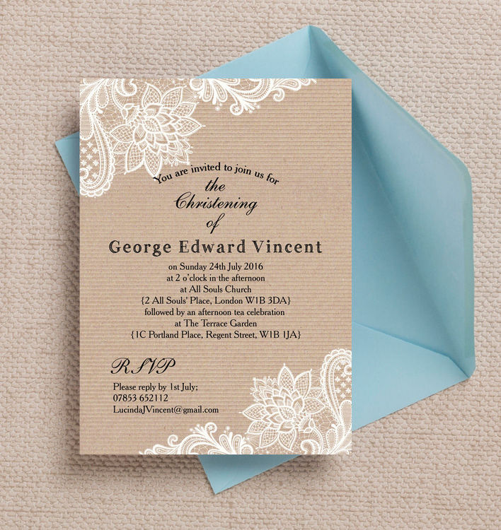 Rustic-Kraft-Lace-Vintage-Lace-Personalised-Christening-Baptism-Invitations-Invites3