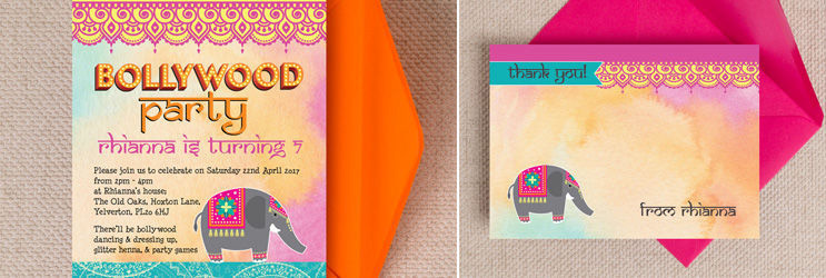 Banner-Image-Bollywood-Kids-Childrens-Birthday-Party-Invitations-Invites-by-Hip-Hip-Hooray