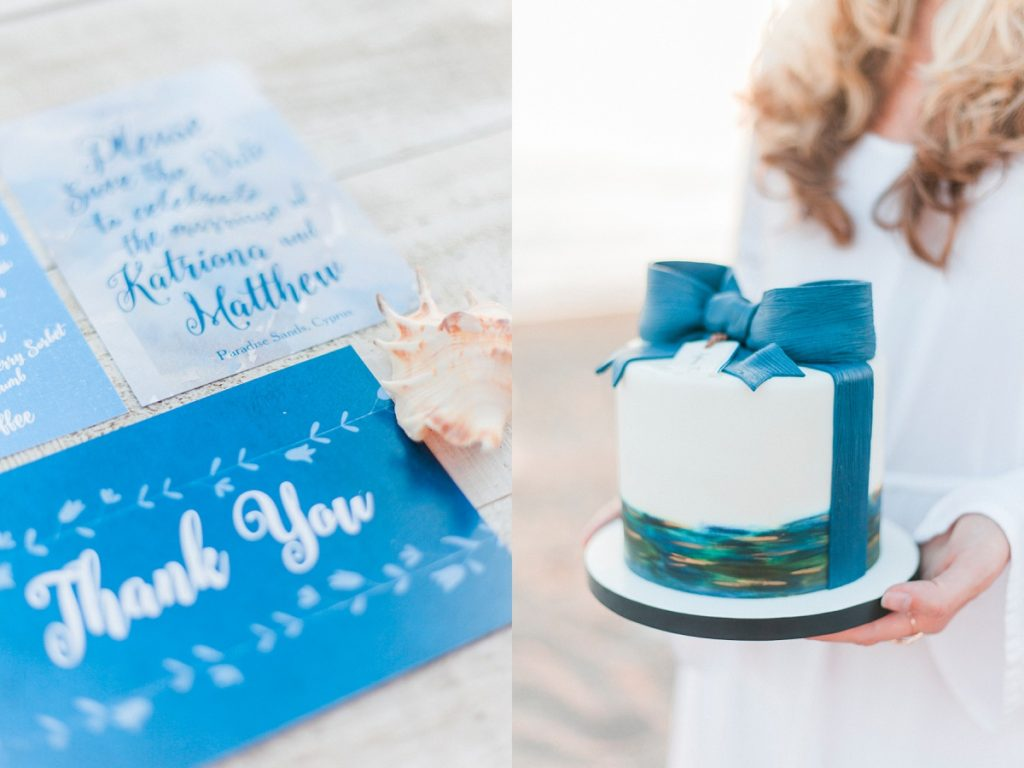 Blue white calligraphy beach destination wedding invites invitations stationery printable printed 12
