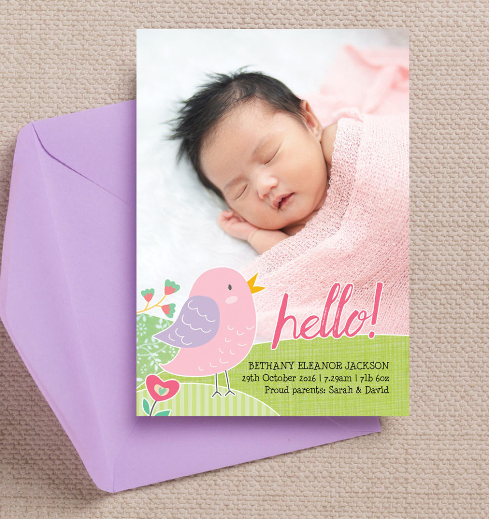 Top 12 Baby Birth Announcement Cards – New Baby Born Announcement