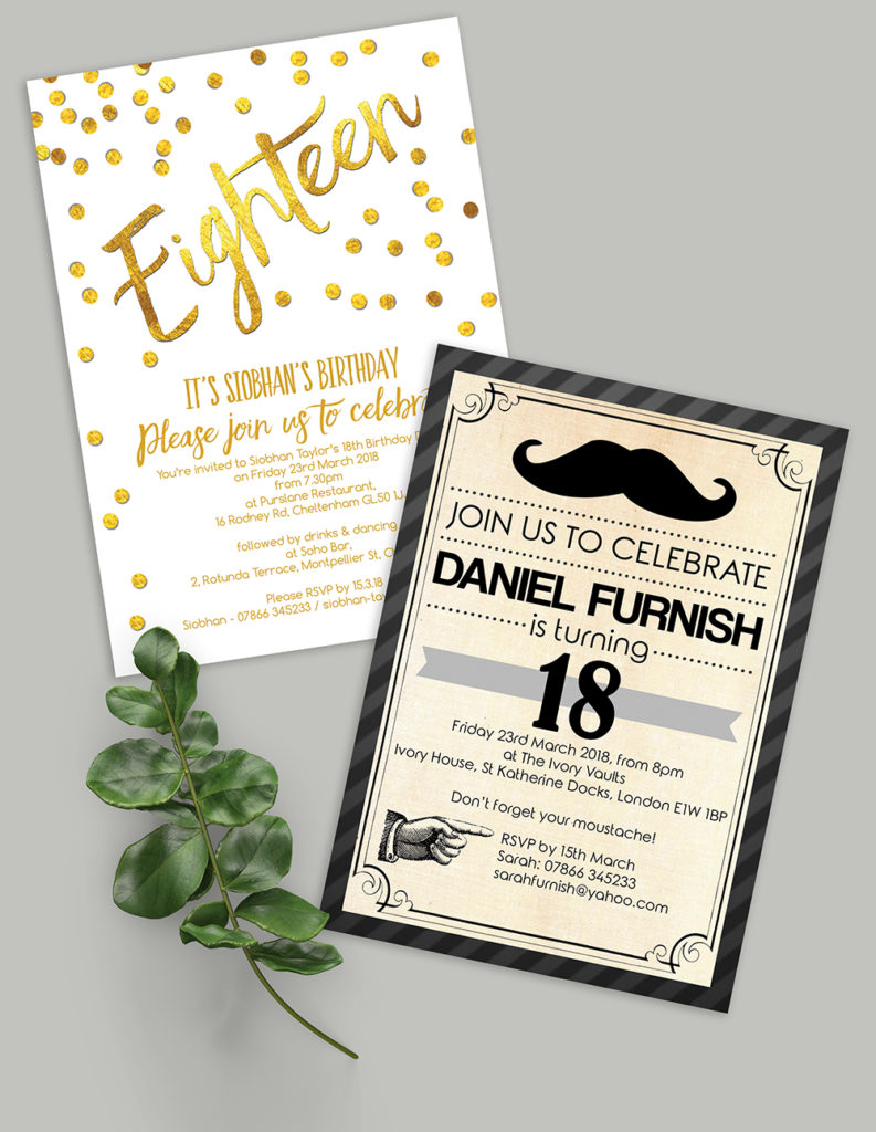 18th birthday party invites invitations title image 1000px