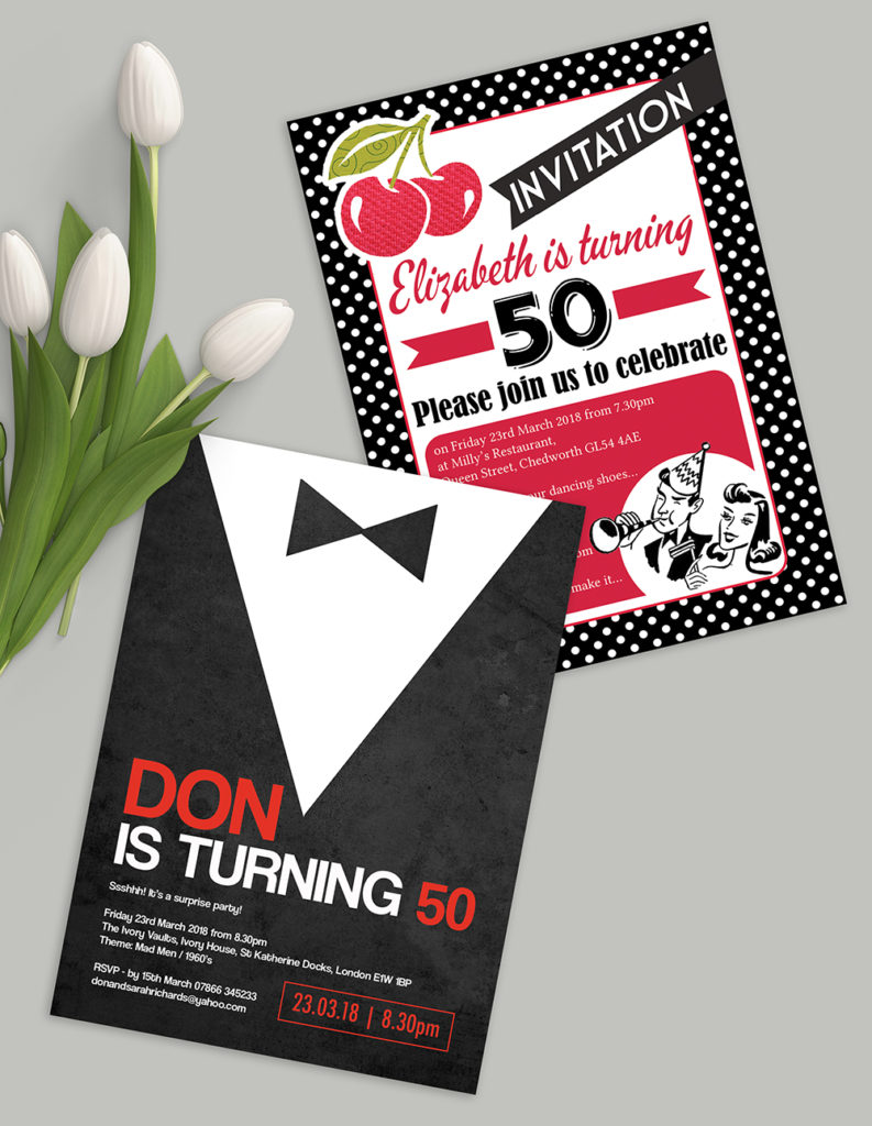 50th birthday party invites invitations title image 1000px