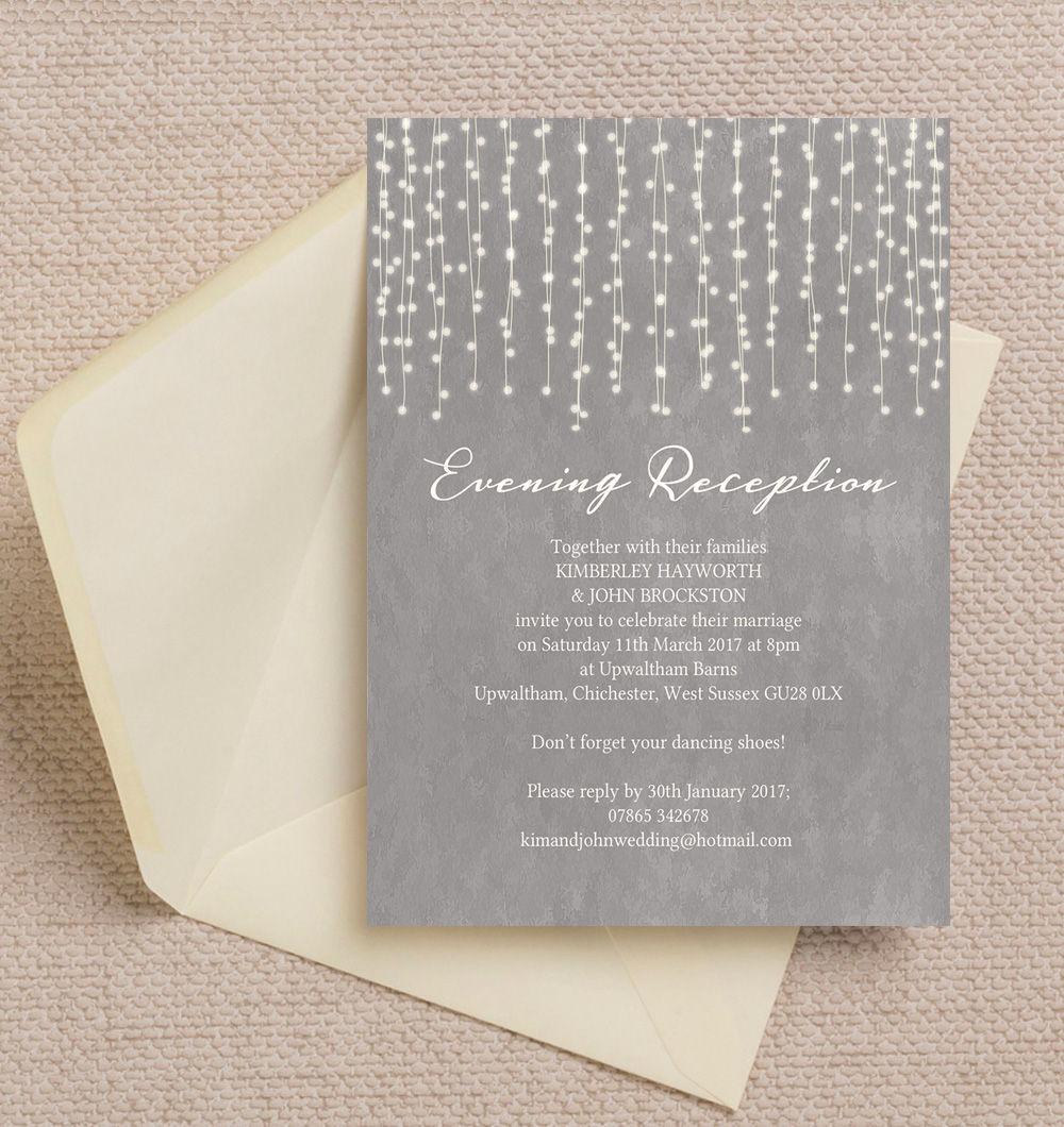 Top 10 Printable Evening Wedding Reception Invitations