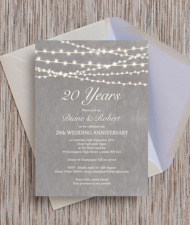 Navy Blue Floral Lace Wedding Anniversary Invitation