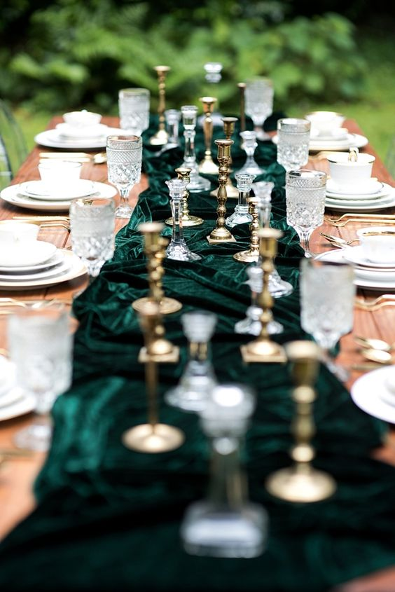 Stunning Emerald Green Gold Wedding Stationery Inspiration