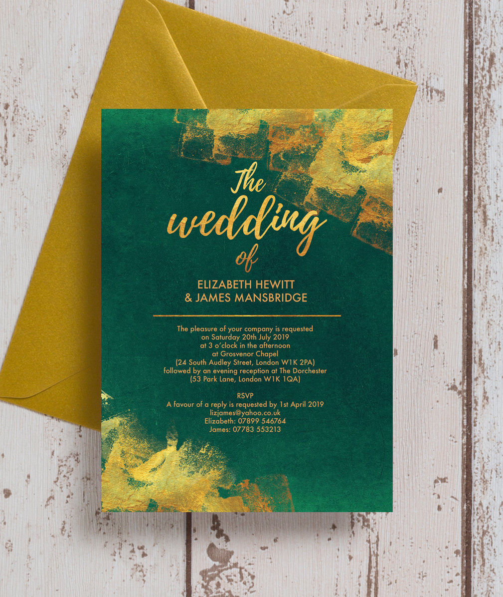 Stunning Emerald Green & Gold Wedding Stationery & Inspiration