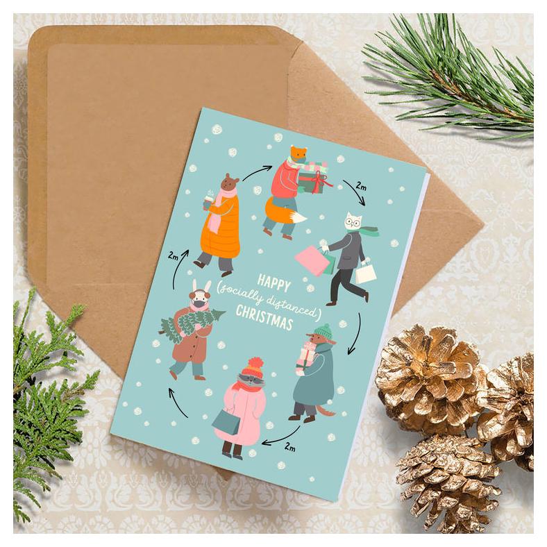 Cowboy Christmas Card Glitter Christmas Card Rustic Christmas Card Gold Glitter Christmas Card Calligraphy Christmas Card