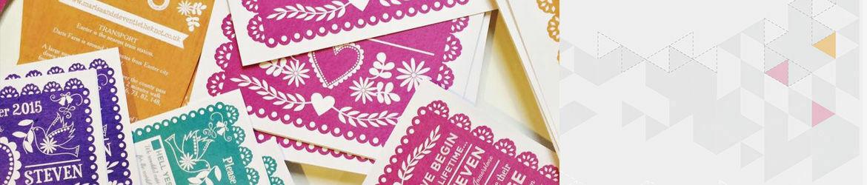 papel picado wedding stationery - Papel Picado Wedding Invitations