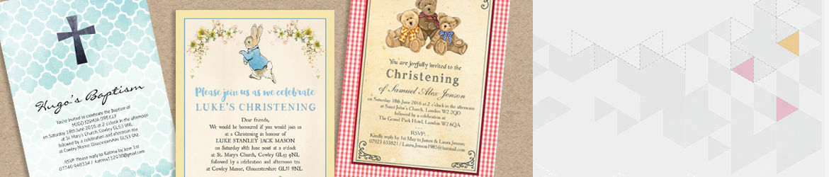 Christening & Baptism Invitations