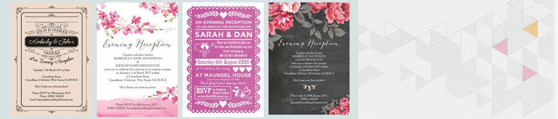 Personalised Evening Wedding Invitations