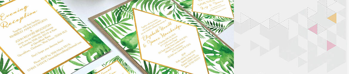 Tropical Leaves Wedding Stationery