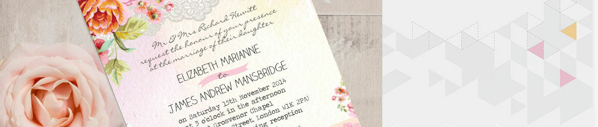 Pastel Watercolour Wedding Stationery