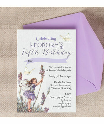 Girls Invitations - Vintage girl birthday invitation