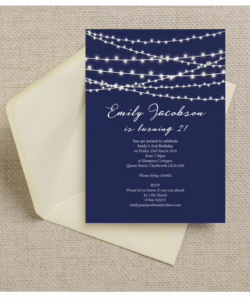 personalised 21st birthday party invitations, Birthday invitations