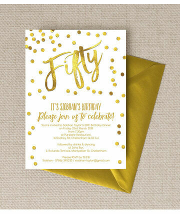 Personalised 50th Birthday Party Invitations