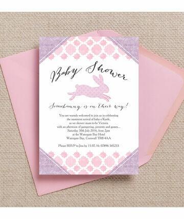 bunny baby shower invitations