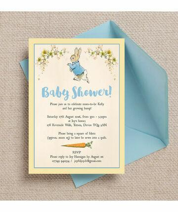 Superb Peter Rabbit Baby Shower Invitation £5.00 From £0.80 This Charming Peter  Rabbit Baby Shower Invitation .
