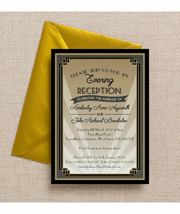 Beliebt Art Deco 1920s Wedding Invites & Stationery WG48