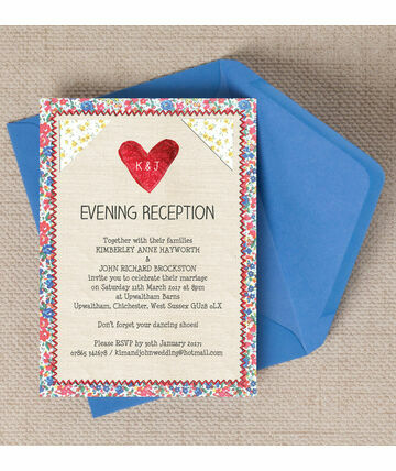 Country Textiles Evening Reception Invitation GBP600 From GBP085 Designed With A Relaxed And Informal Theme This Countr