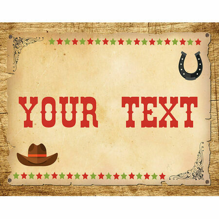 Cowboy Wild West Birthday Party Sign / Poster from £4.00 each