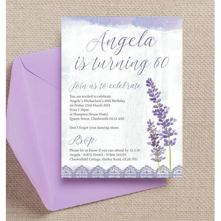 Personalised 60th Birthday Party Invitations – Personalised Party Invites