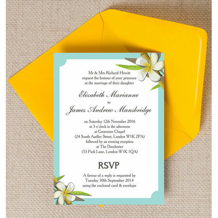 Tropical Beach Wedding Invitation From GBP100 Each