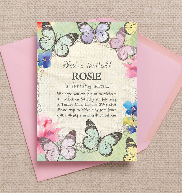 Butterfly Garden Party Invitation – Butterfly Party Invitation