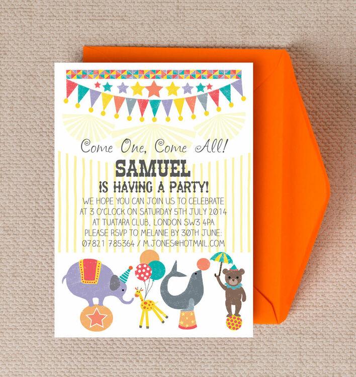 Circus Fun Party Invitation – Fun Party Invitation