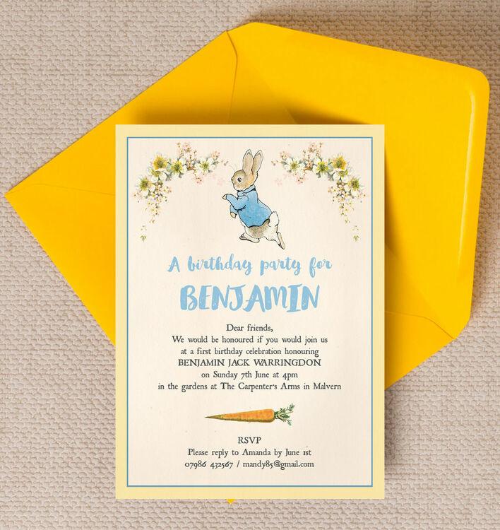 Beatrix Potter Peter Rabbit Party Invitation – Party Invitation Reply